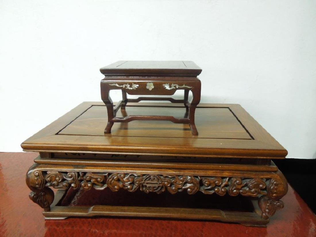 2 Chinese Table Top Stands