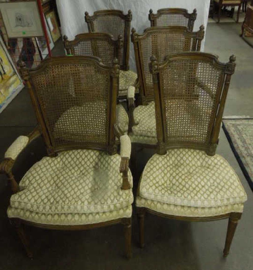 Set of 6 Louis XVI Style arm/side Chairs