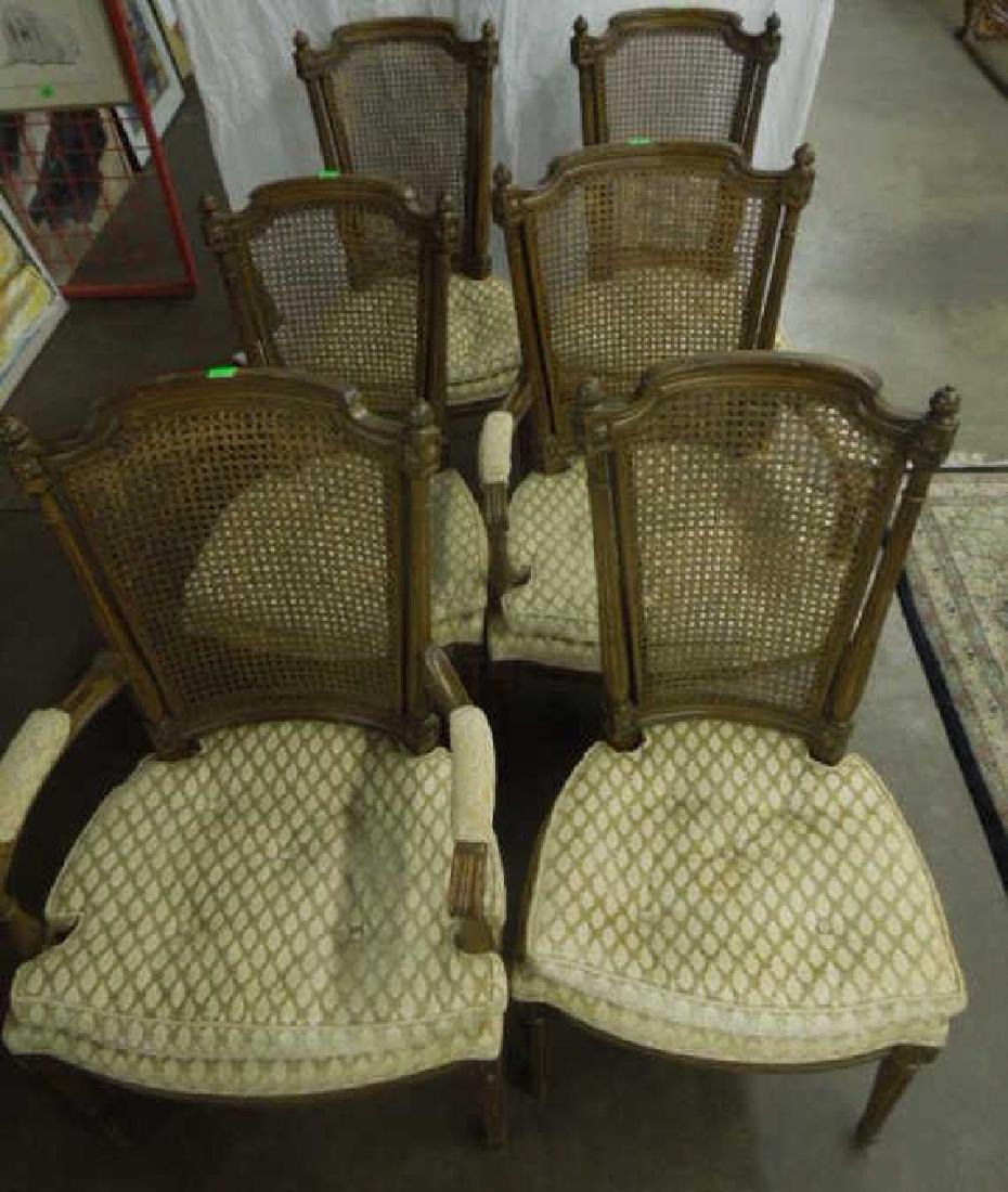 Set of 6 Louis XVI Style arm/side Chairs - 5
