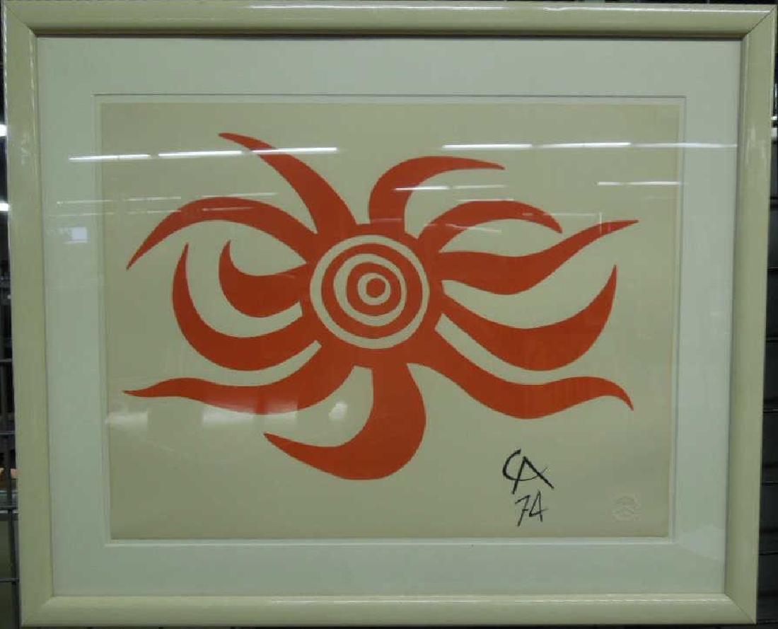 Alexander Calder Sunburst Lithograph