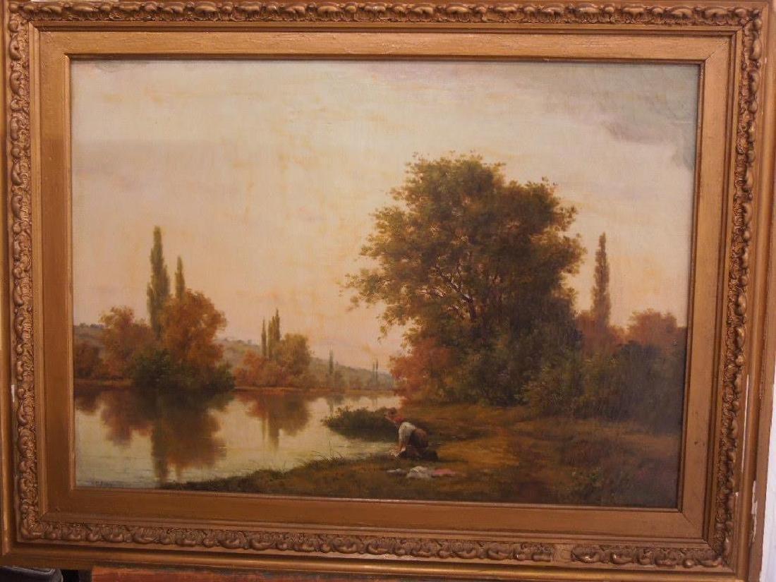 [Manner of] H.C. Delpy, o/c, River Landscape