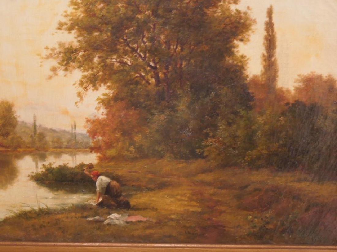 [Manner of] H.C. Delpy, o/c, River Landscape - 2