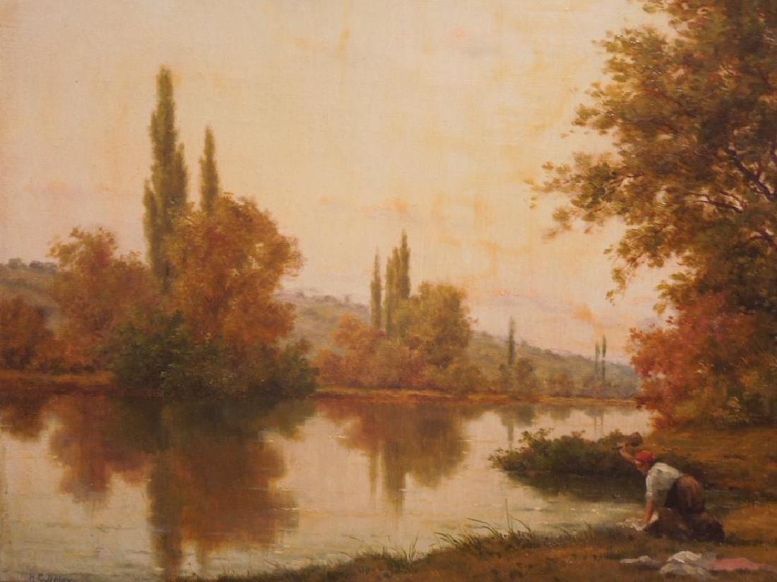 [Manner of] H.C. Delpy, o/c, River Landscape - 5