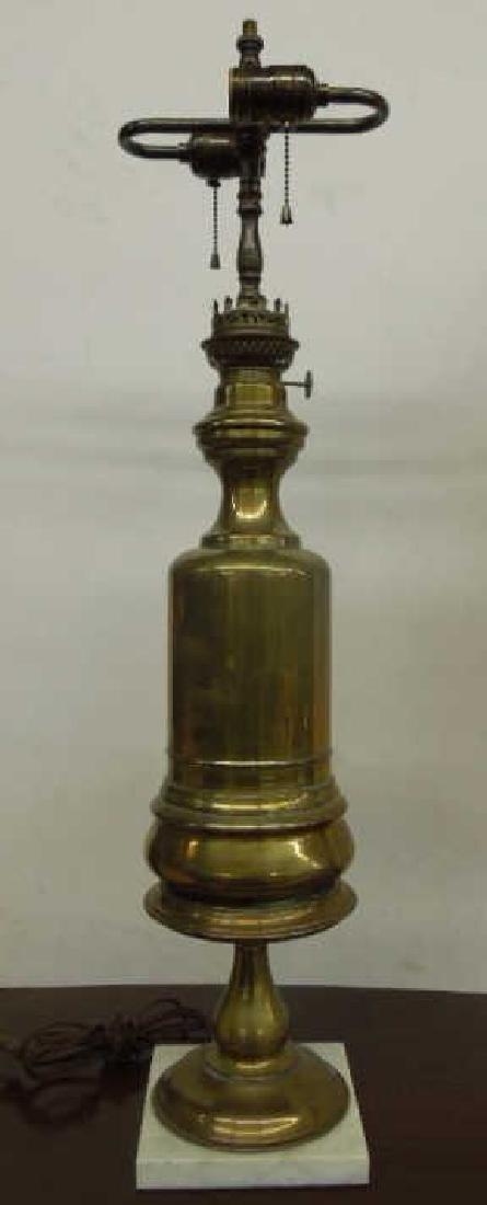 Pr Brass Fluid Lamps - 4
