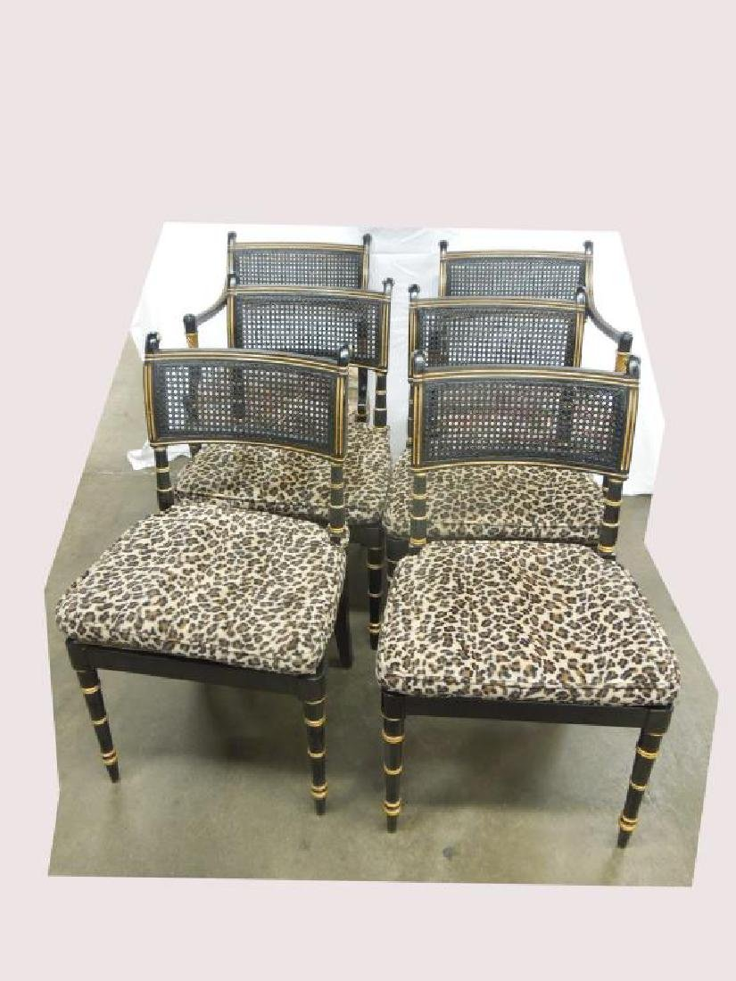 6 Baker Sheraton Style Fancy Chairs