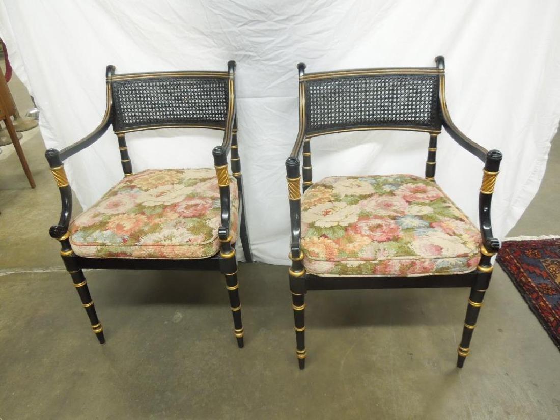 6 Baker Sheraton Style Fancy Chairs - 2