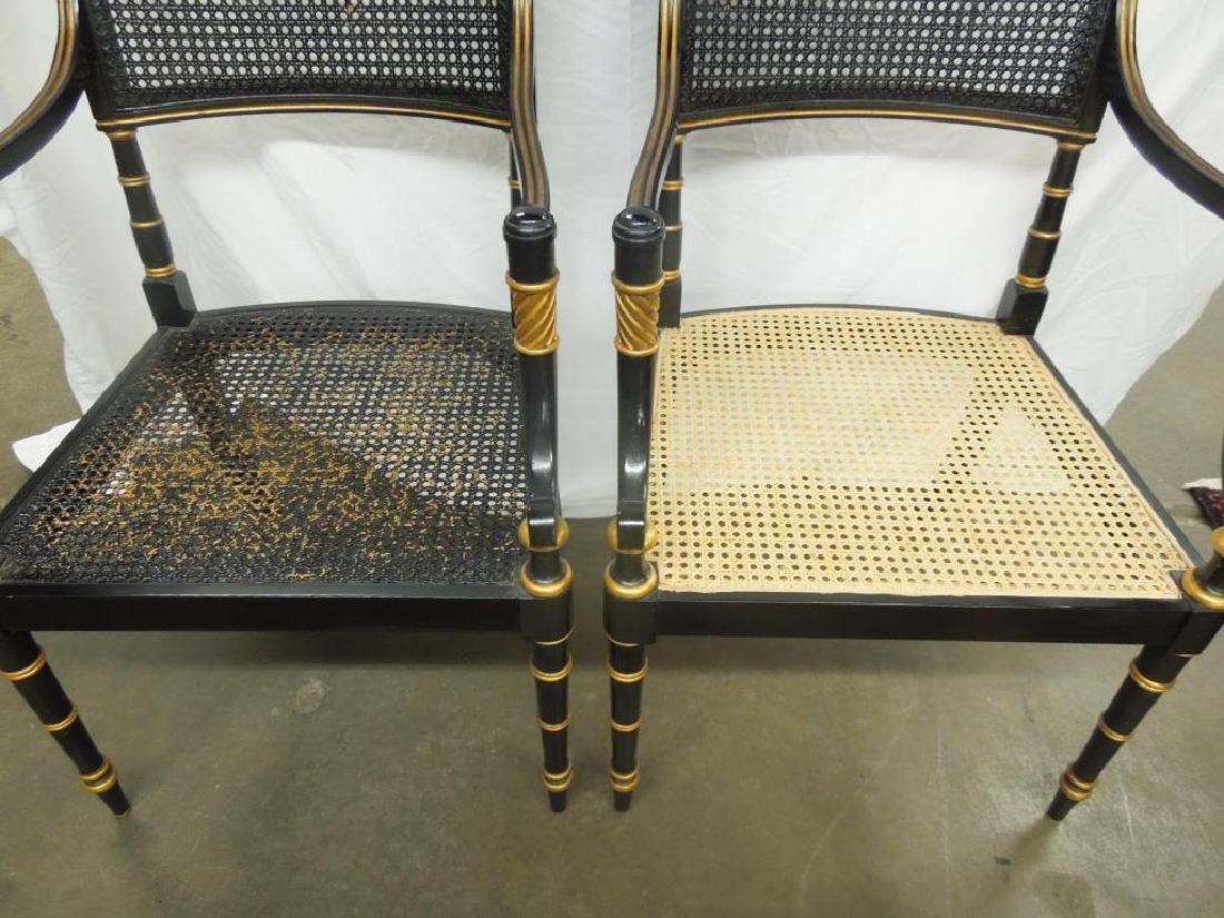 6 Baker Sheraton Style Fancy Chairs - 3