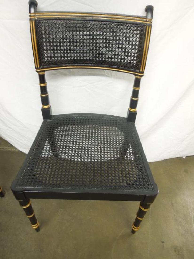6 Baker Sheraton Style Fancy Chairs - 4