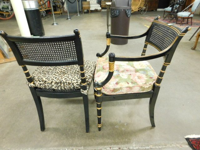 6 Baker Sheraton Style Fancy Chairs - 5