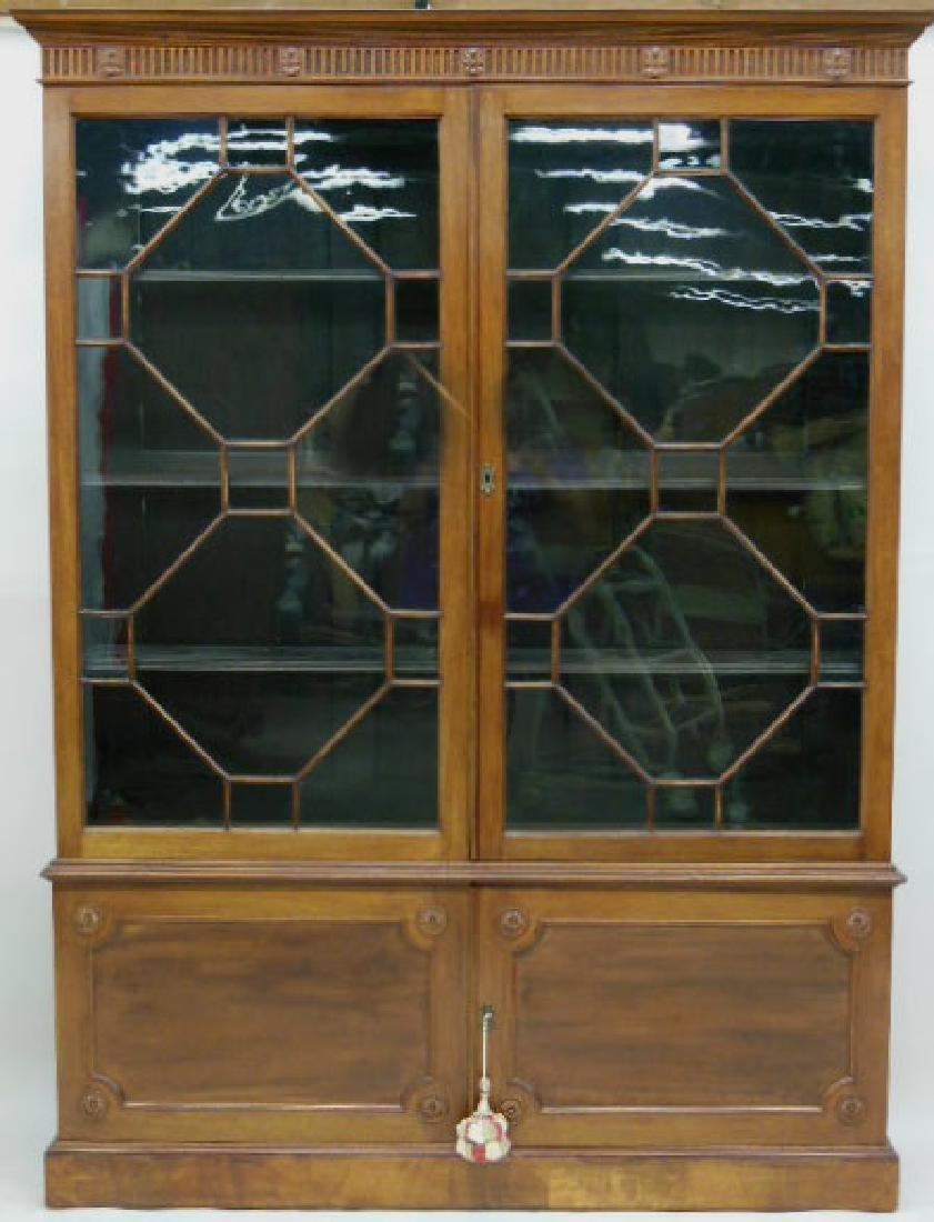 Antique Adam Neo Classical Bookcase / Cabinet