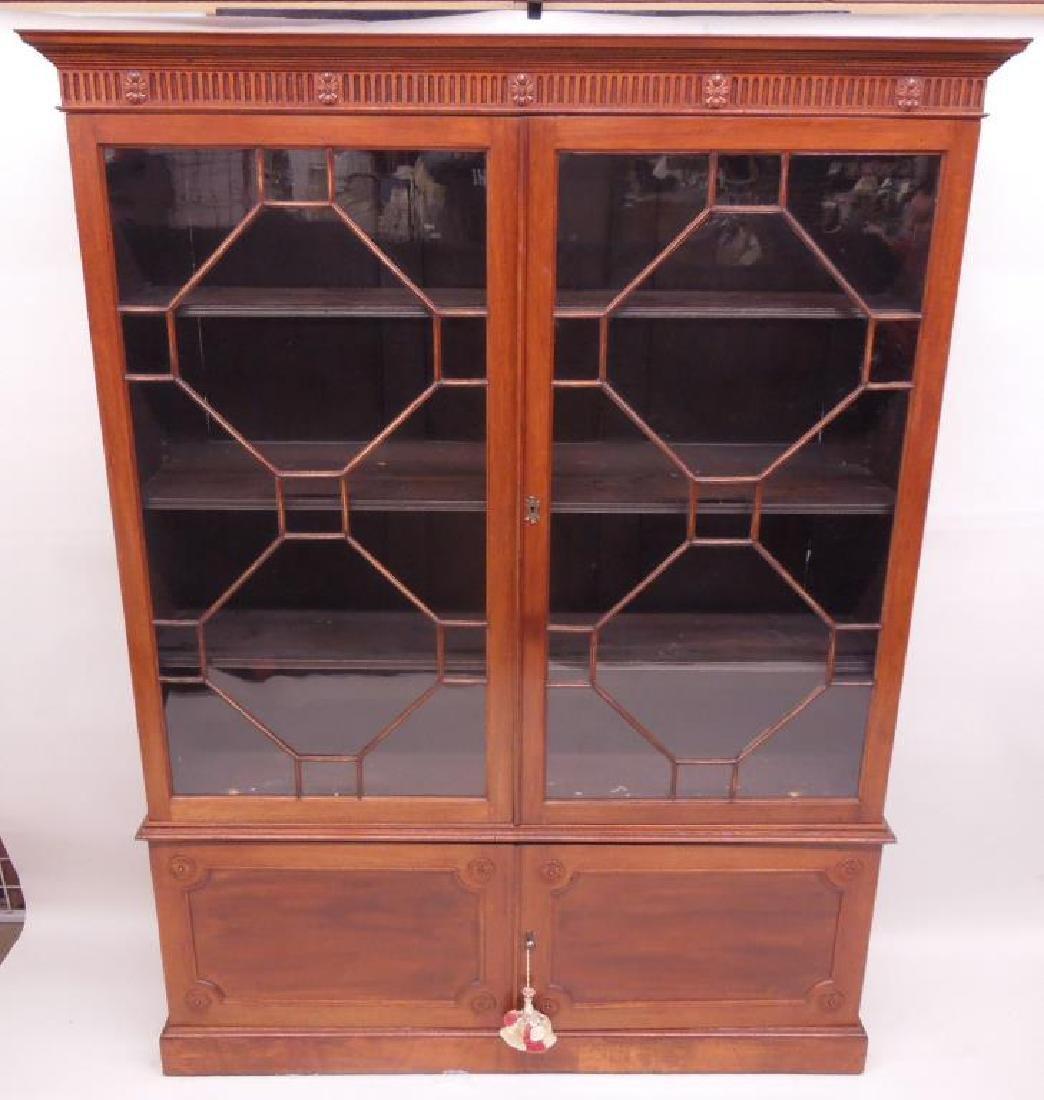 Antique Adam Neo Classical Bookcase / Cabinet - 2