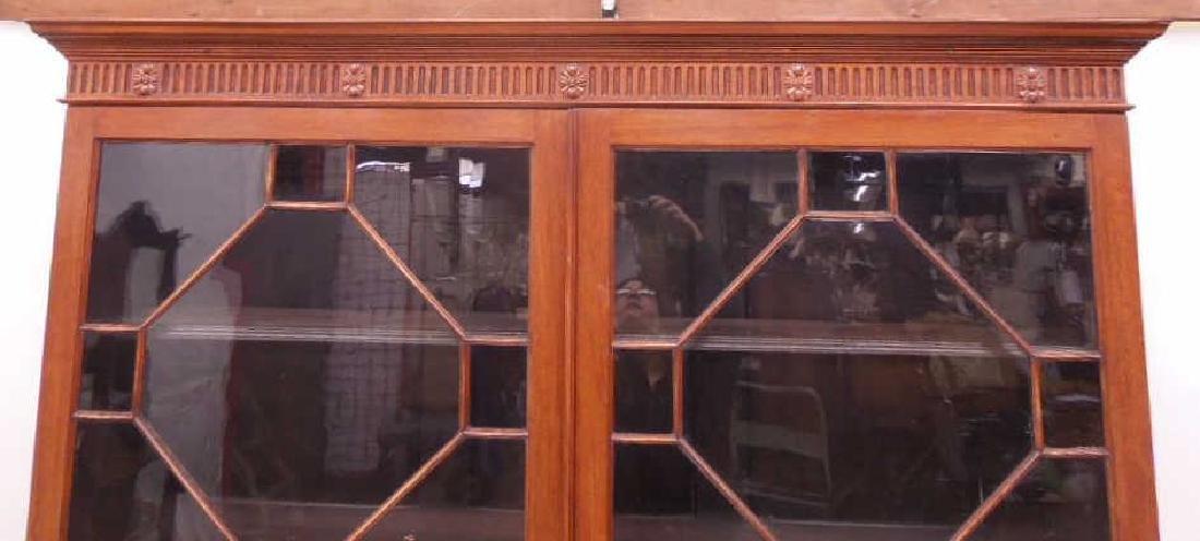 Antique Adam Neo Classical Bookcase / Cabinet - 3
