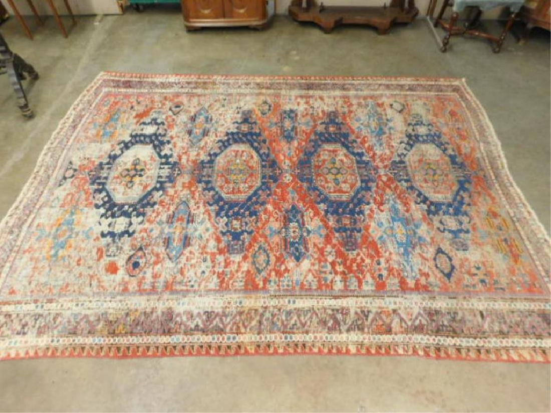 Antique Soumak Room-Size Carpet
