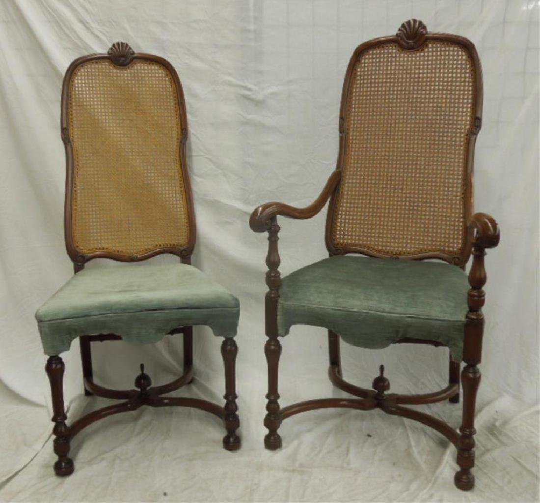 2 William & Mary Style Chairs
