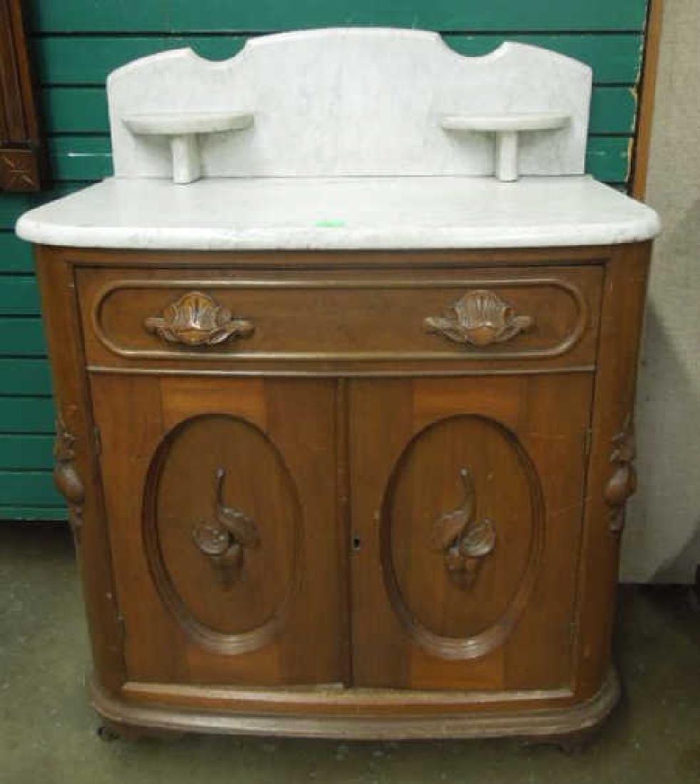 Rococo Revival Washstand