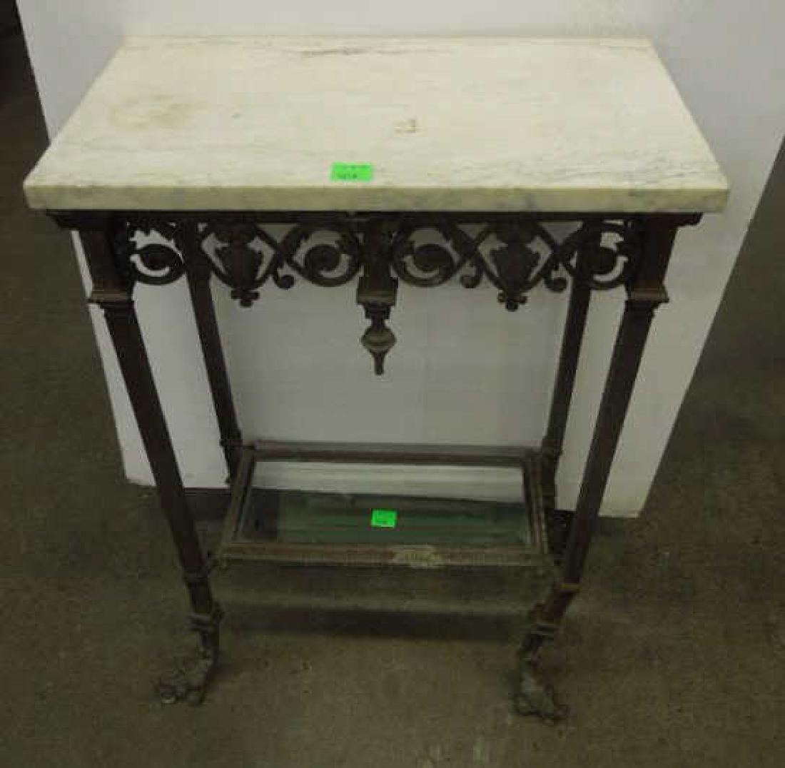 Victorian Brass & Marble Stand