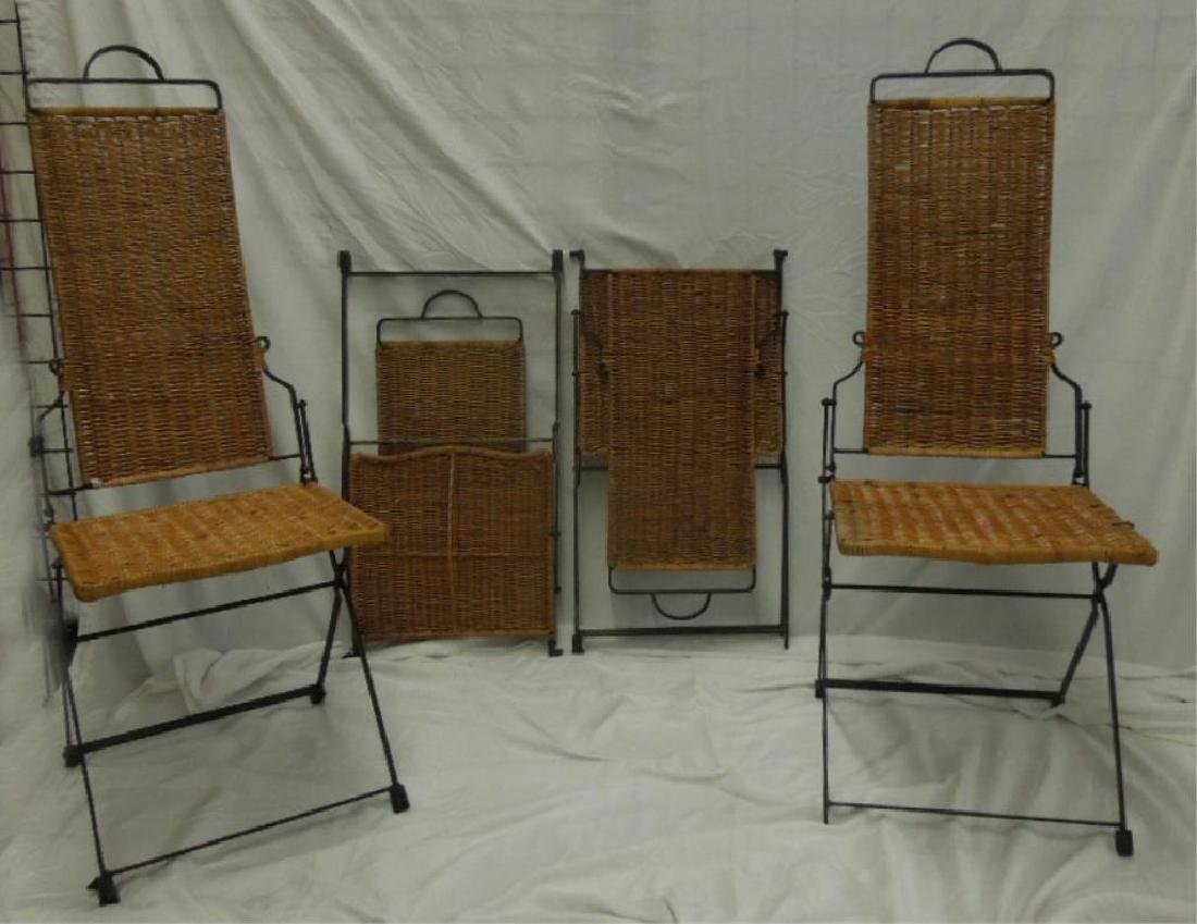 Set of 4 Mid-Century Modern Folding Chairs