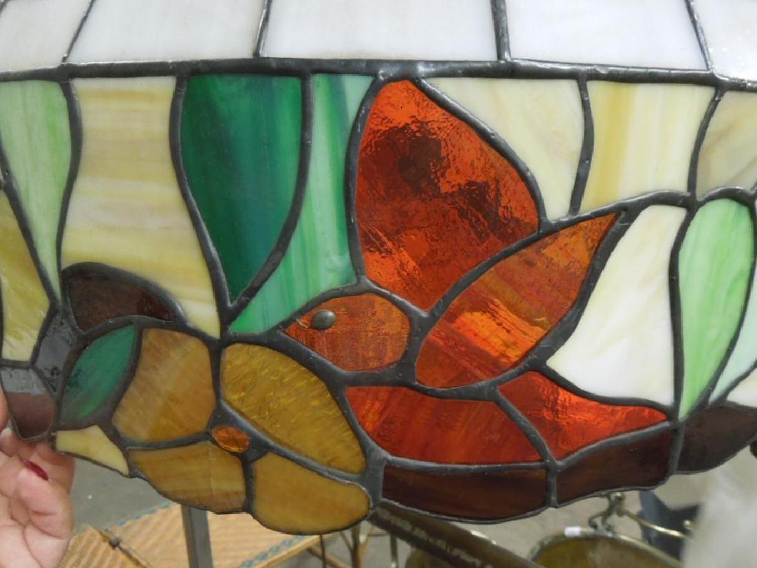 3 Tiffany Style Leaded Glass Shades - 6