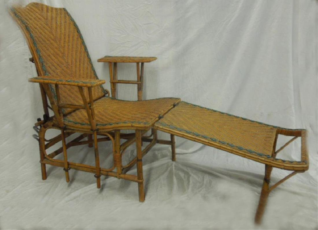 Vintage Wicker Deck Recliner