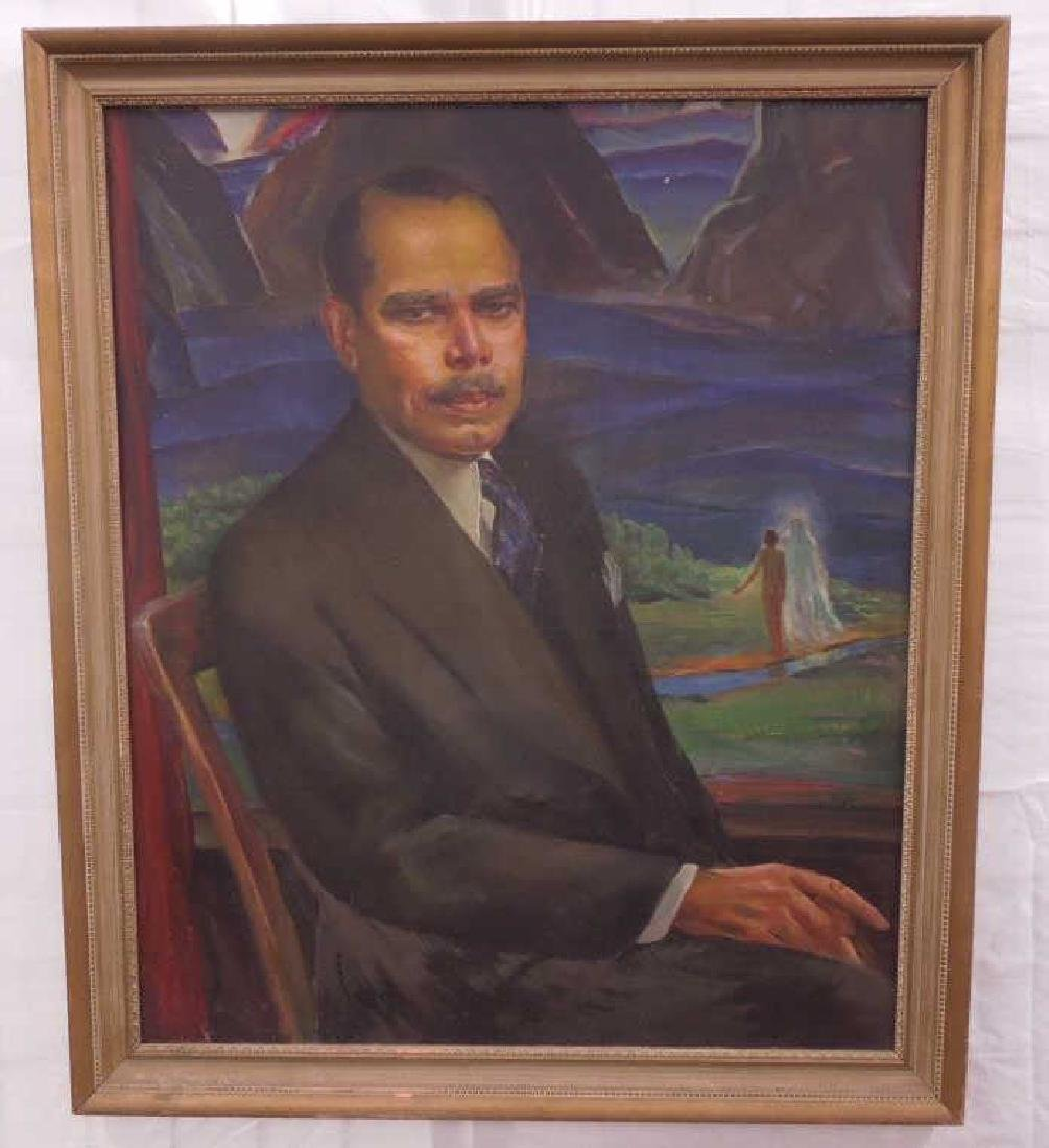 L. Wheeler Waring, o/c, Portrait, James Weldon Johnson