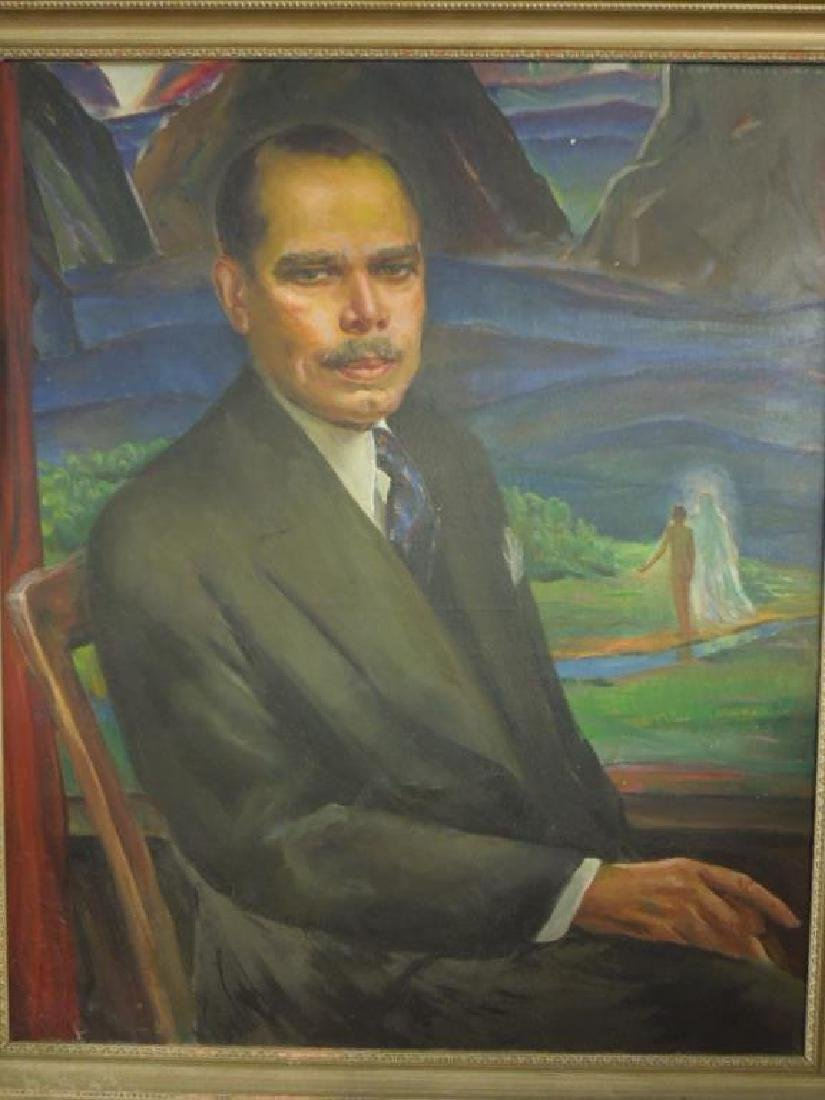 L. Wheeler Waring, o/c, Portrait, James Weldon Johnson - 2