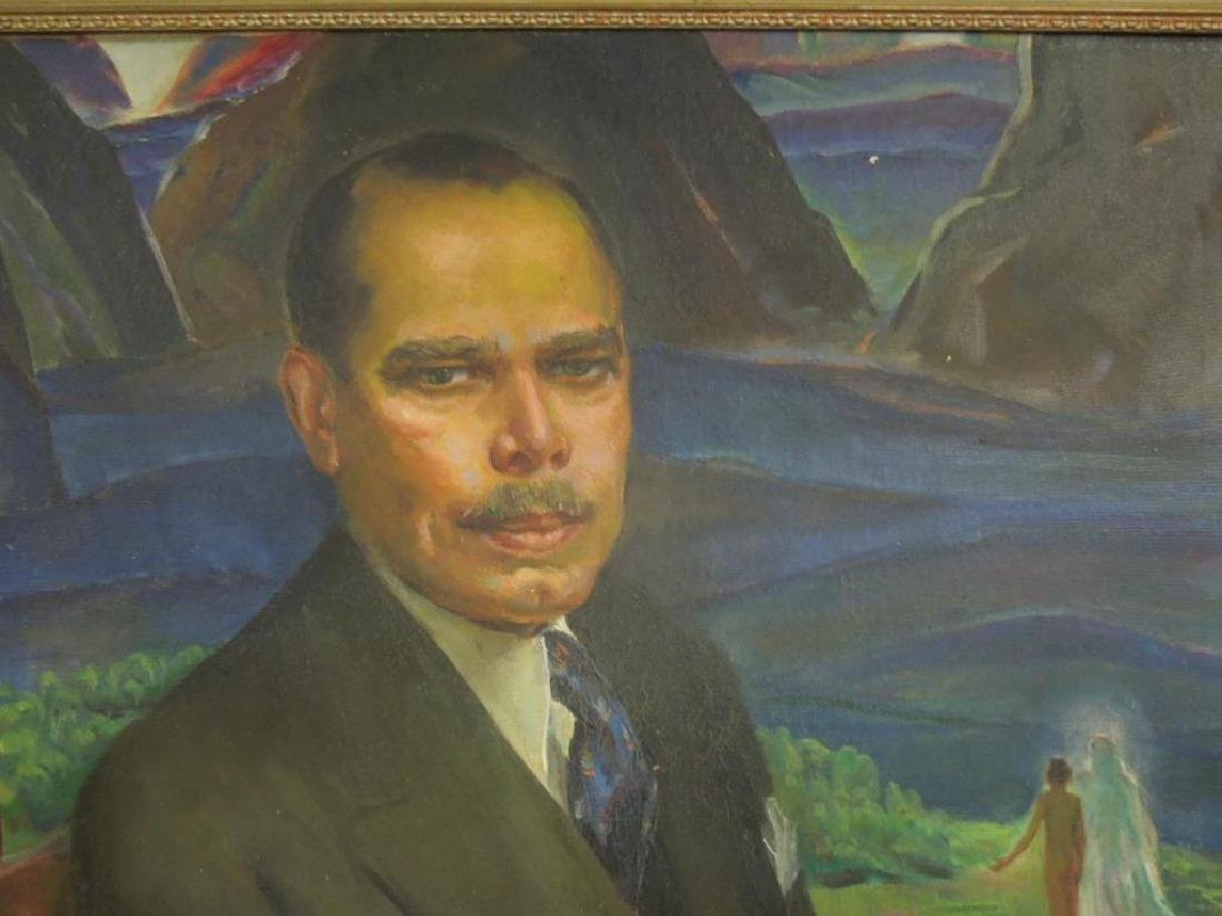 L. Wheeler Waring, o/c, Portrait, James Weldon Johnson - 3