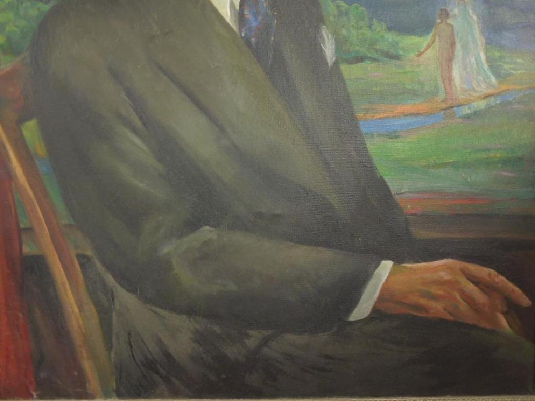 L. Wheeler Waring, o/c, Portrait, James Weldon Johnson - 4