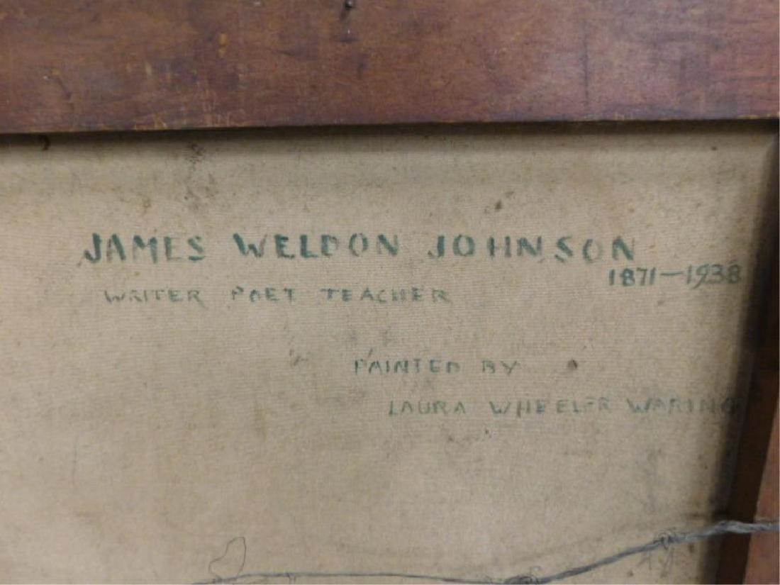 L. Wheeler Waring, o/c, Portrait, James Weldon Johnson - 6