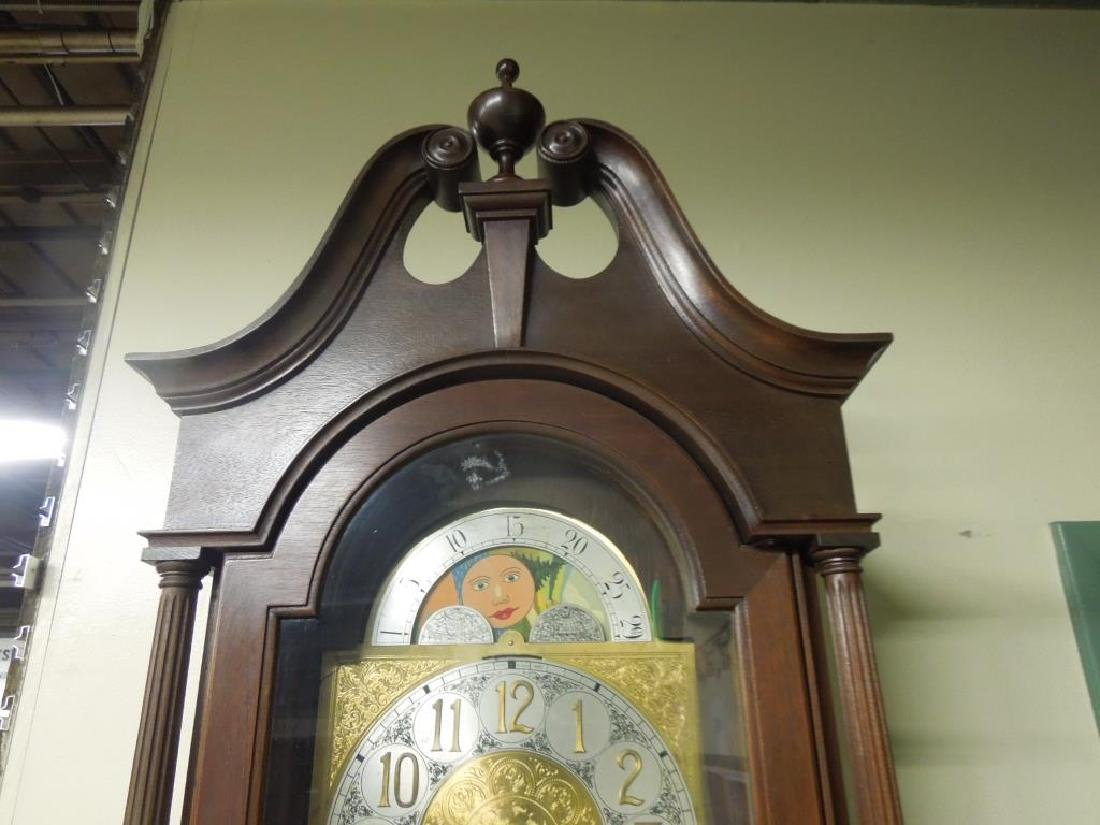 Chippendale Style Tall Case Clock - 4