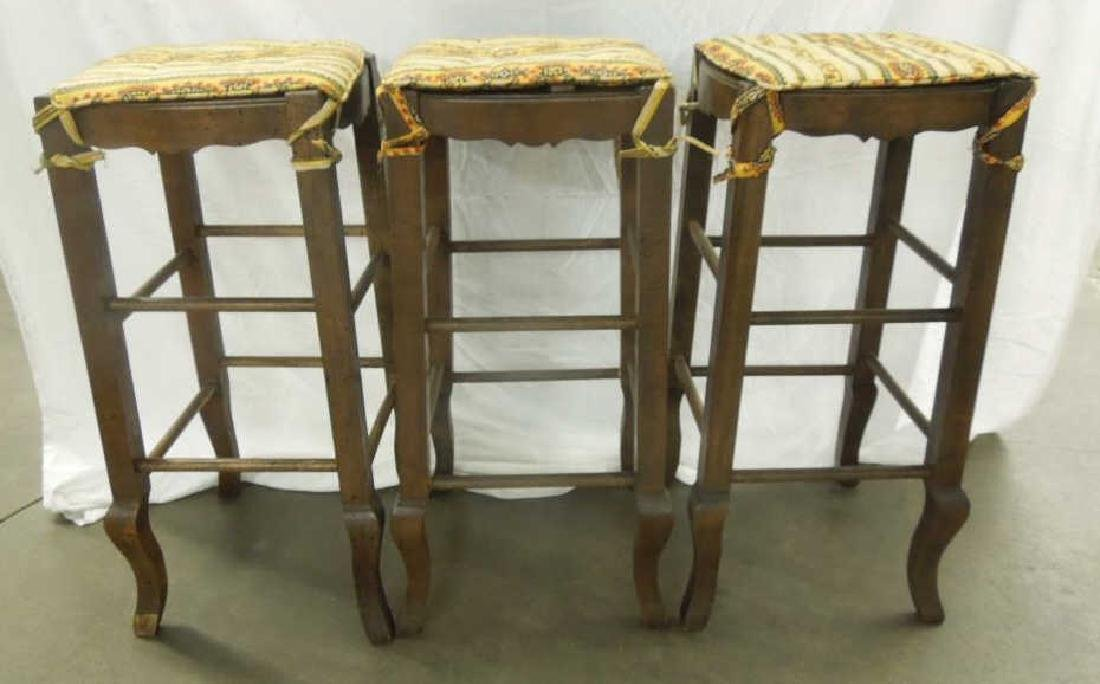 Set 3 Country French Style Bar Stools