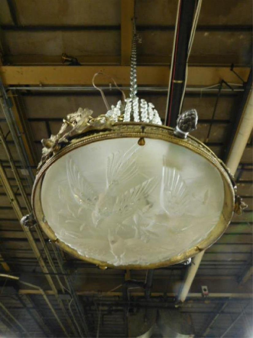 Lalique Style Chandelier