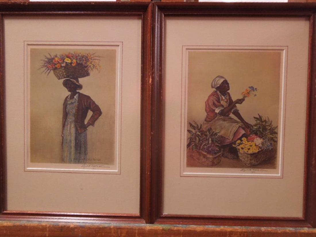 Eliz. O'Neill Verner, Litho, Flower Sellers