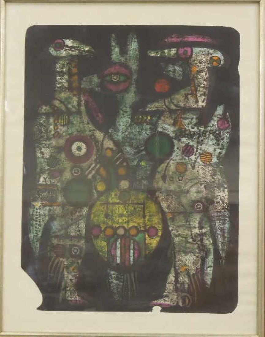 K Vysusil Abstract Lithograph