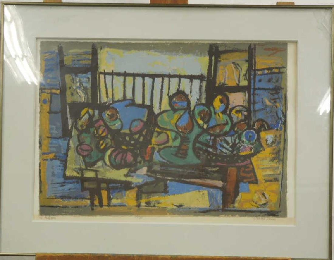 Marcel Janco Signed Lithograph