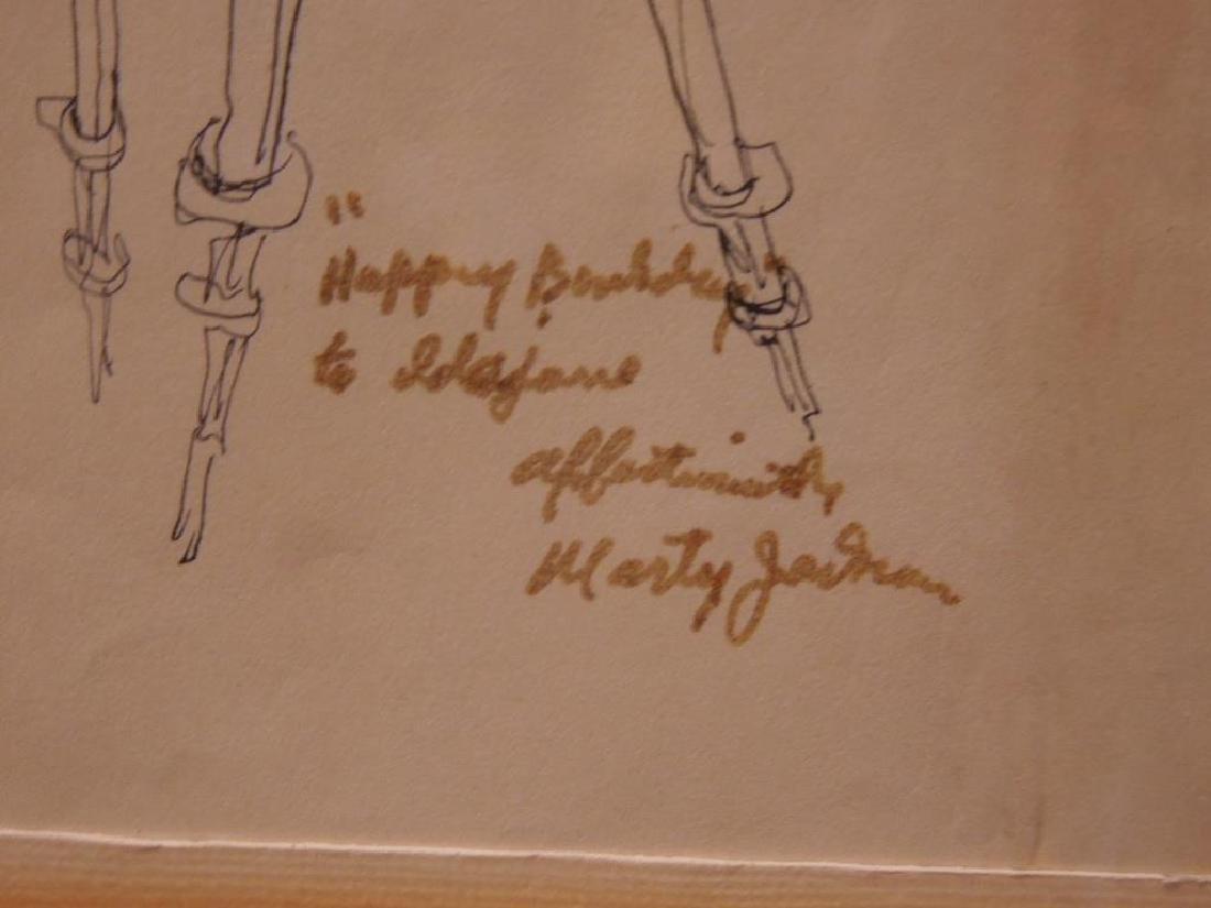"M. Jackson, Ink on Paper, ""Clown Resting"" - 5"