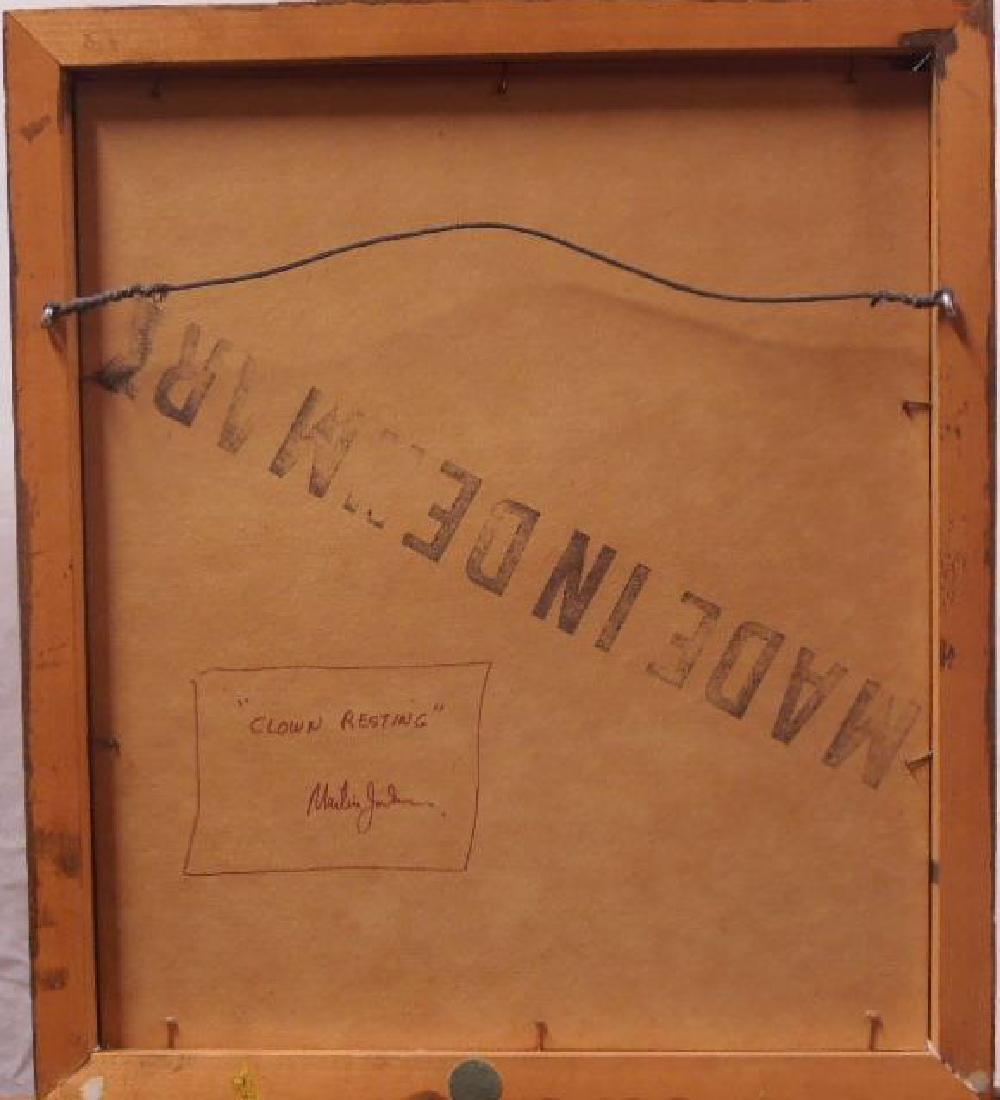"M. Jackson, Ink on Paper, ""Clown Resting"" - 7"