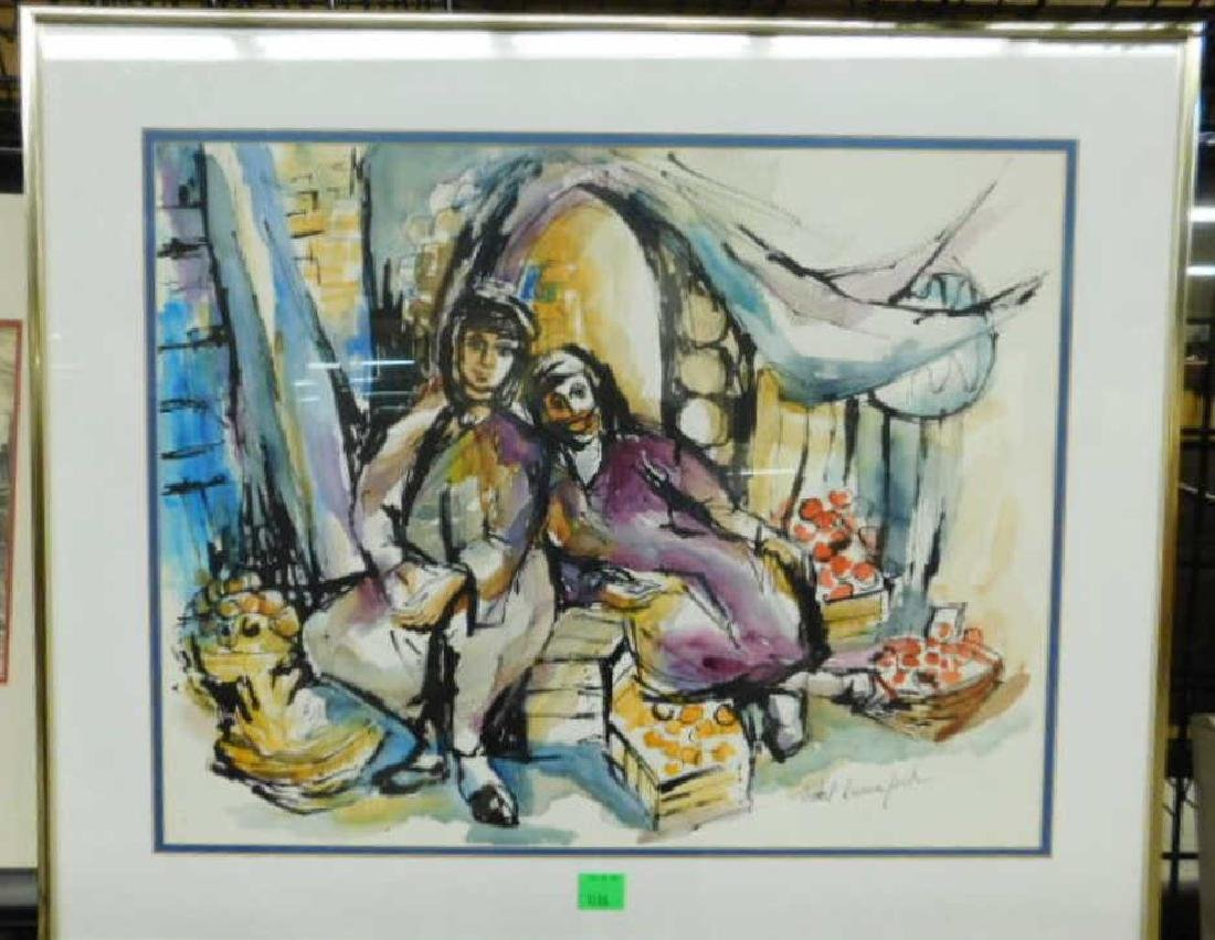 Ethel Lunenfeld Signed Watercolor