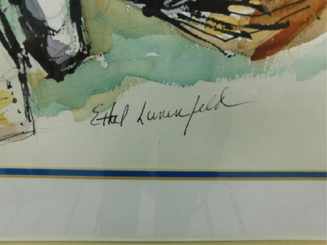 Ethel Lunenfeld Signed Watercolor - 2