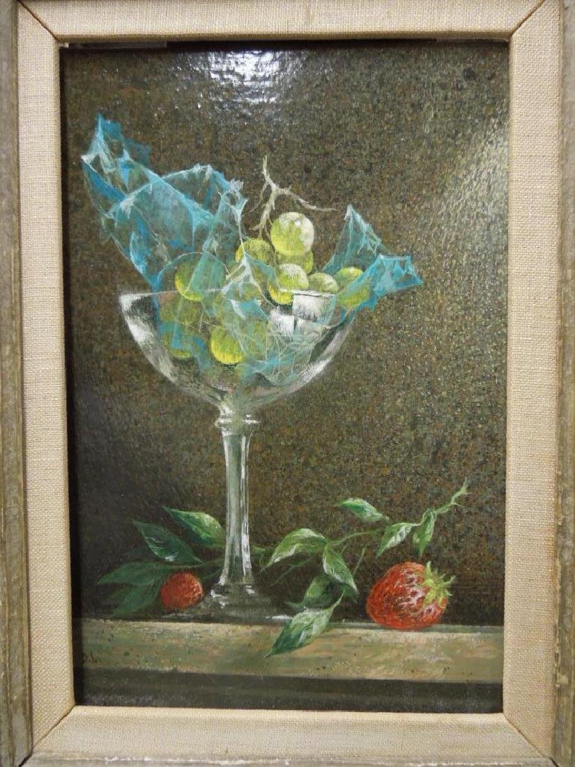 "D. Lord, Acrylic, ""Grapes in Goblet"" - 2"