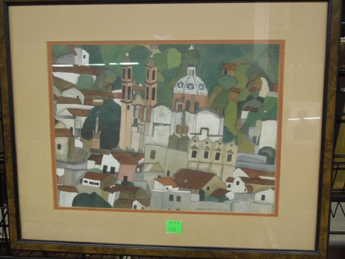 Amador Lugo, Gouache Painting