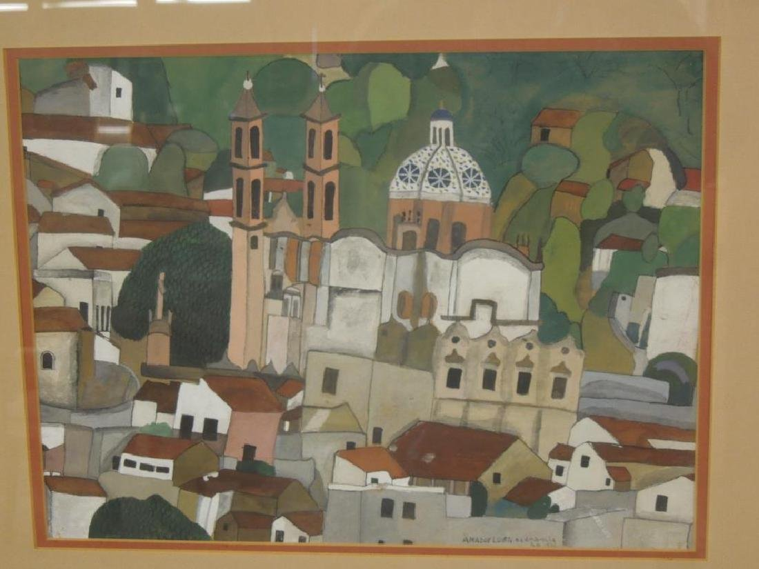 Amador Lugo, Gouache Painting - 2