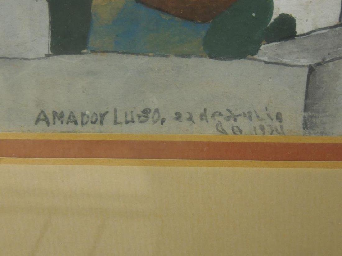 Amador Lugo, Gouache Painting - 3
