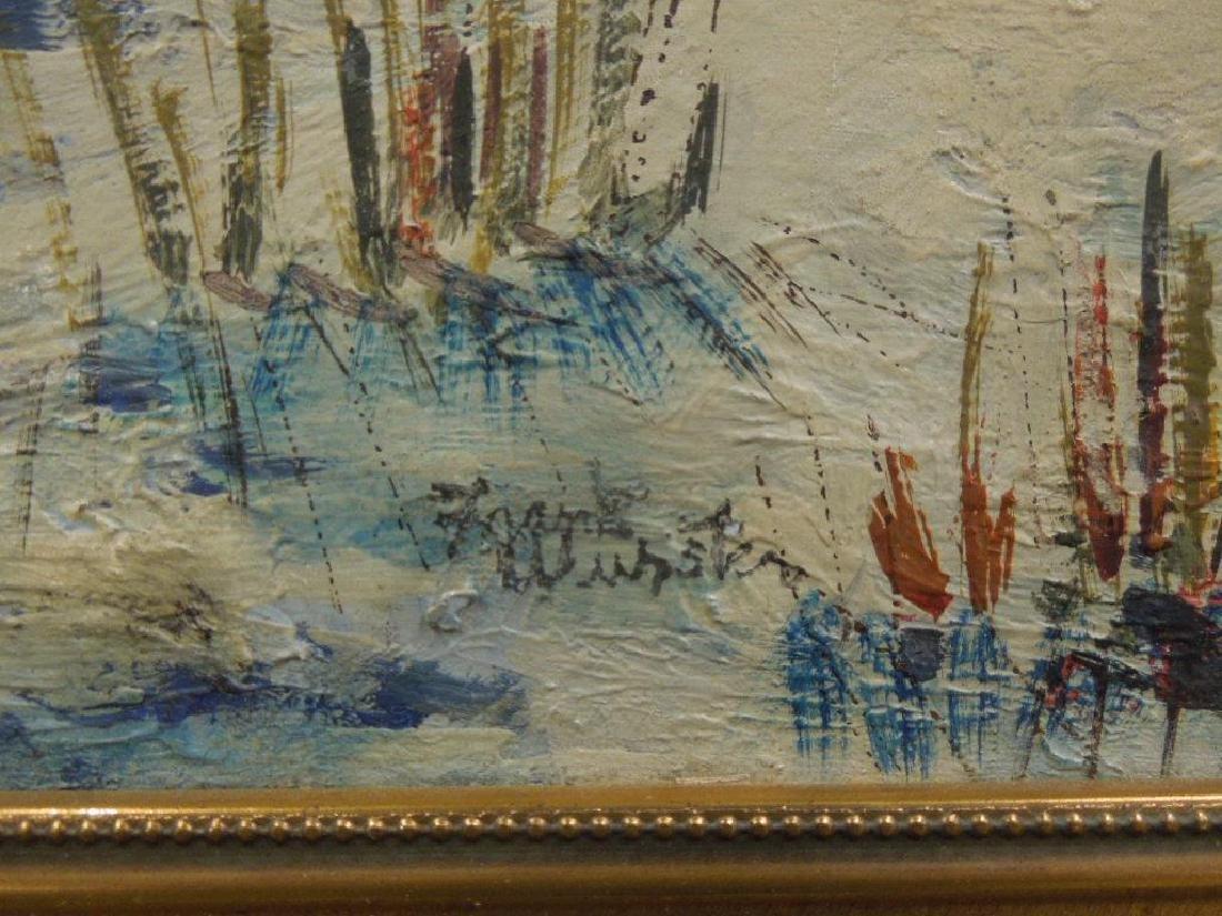 F. Wurster, o/b Snowscape w/Red Barn - 3