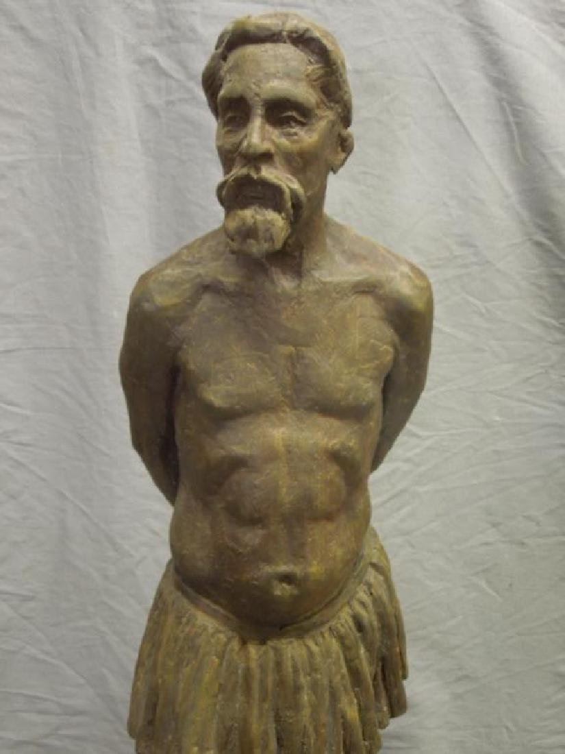 Sculpture of Bearded Man in Skirt - 2