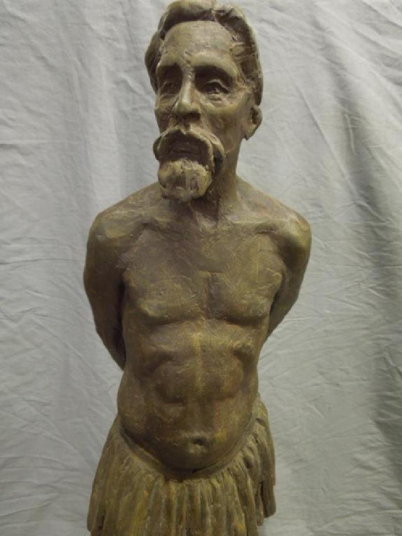 Sculpture of Bearded Man in Skirt - 4
