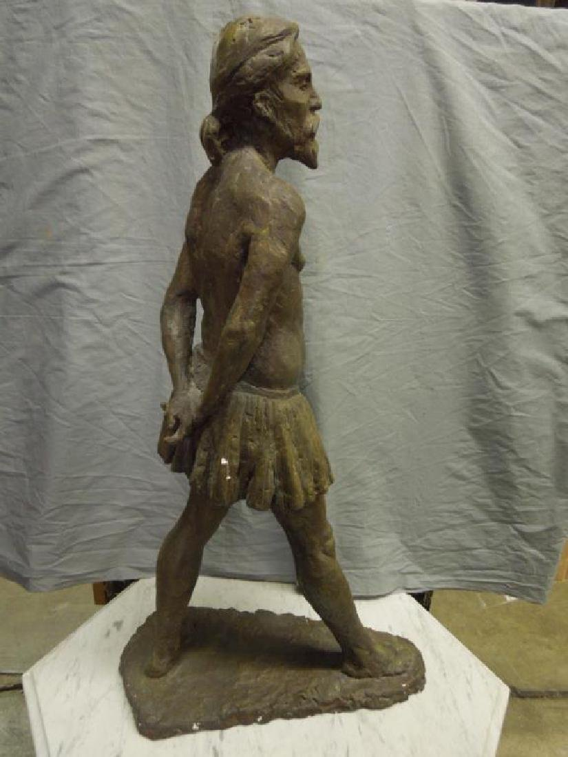 Sculpture of Bearded Man in Skirt - 5