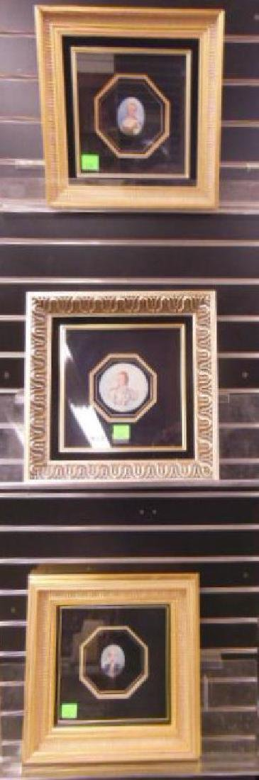 (3) 19th C Miniature Portrait Paintings