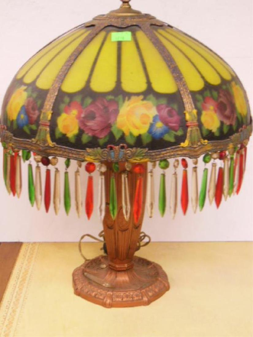Reverse Painted Glass Lamp - 2