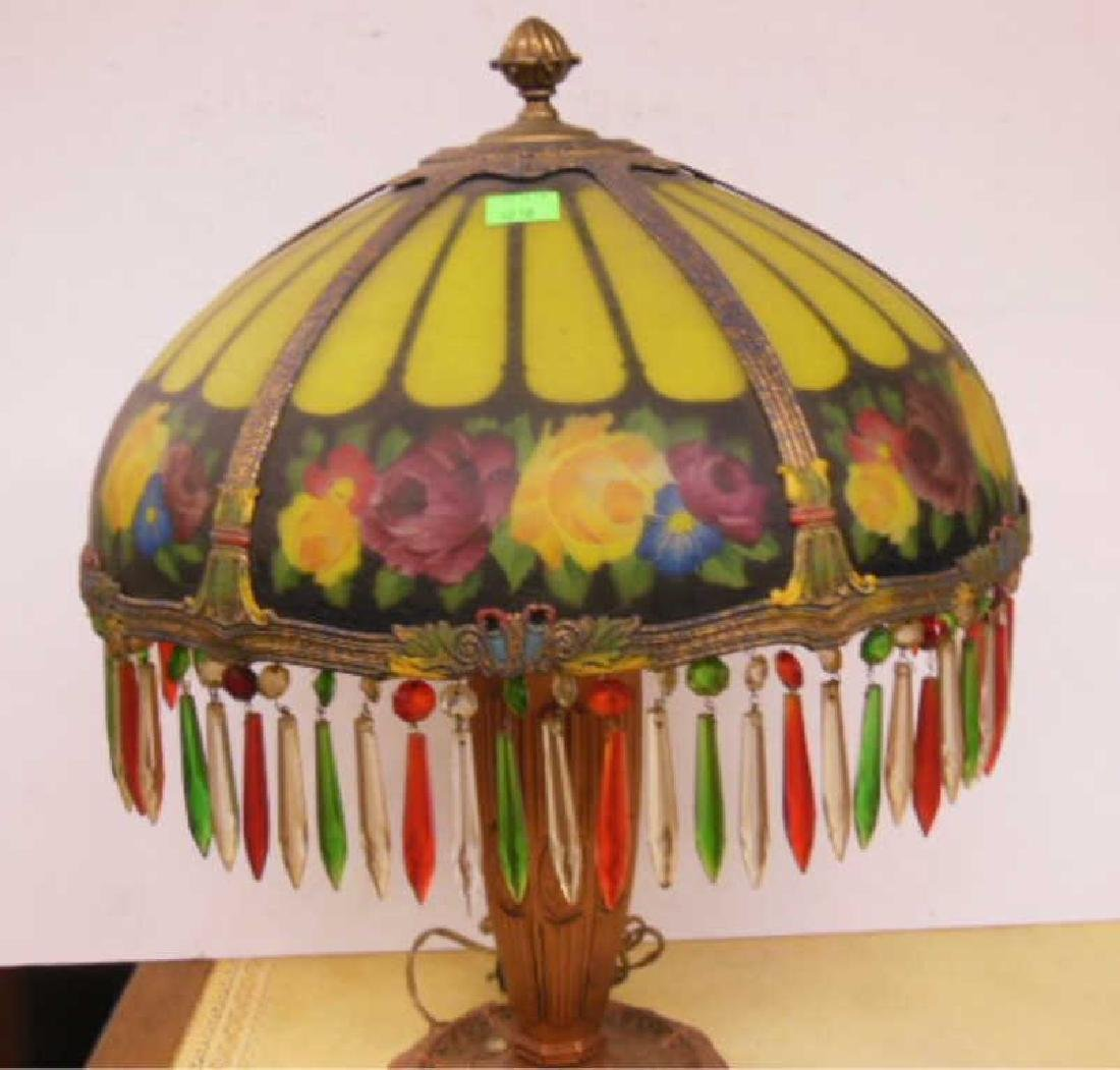 Reverse Painted Glass Lamp - 3