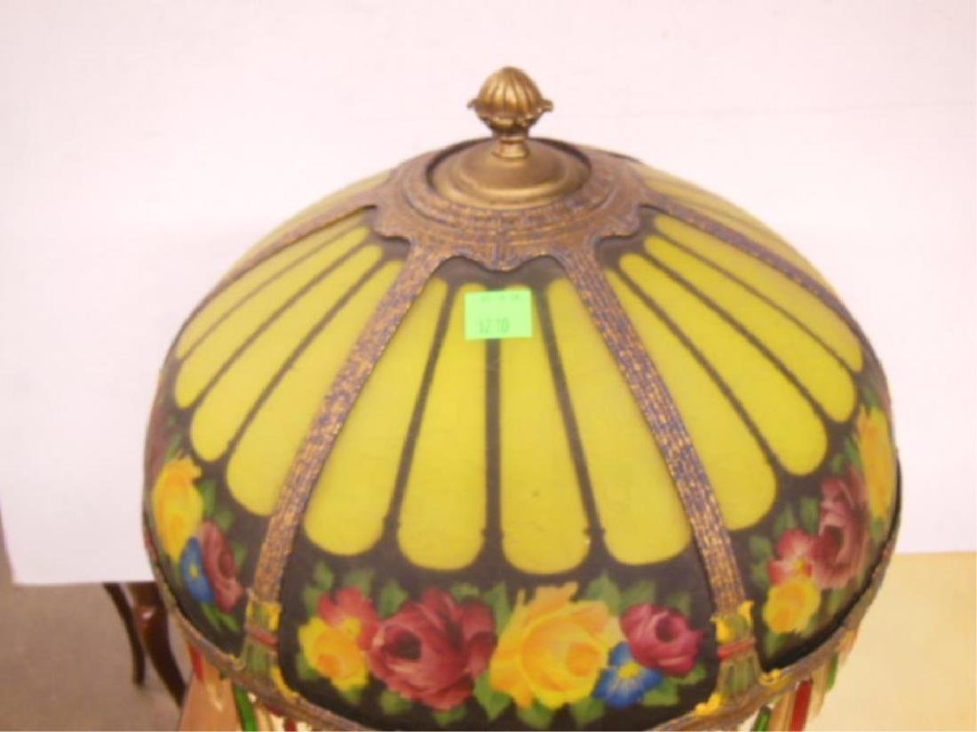 Reverse Painted Glass Lamp - 4